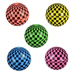 25mm (1-inch) Checkered Flag Hi-Bounce Balls 250 Count Bag