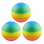 3-inch Inflated Rainbow Vinyl Balls 288 Count Box