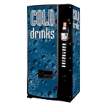 Dixie Narco 600E Factory Refurbished (Panel Door) Multi-Price 9 Selection Bottle / Can Soda Vending Machine