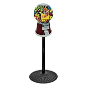 The Universal Classic Big Bubble 16-inch Candy Vending Machine w/Retro Stand