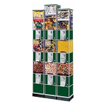 Beaver Triple Decker Bulk Candy, Gumball & Toy Capsule Vending Tower w/Base