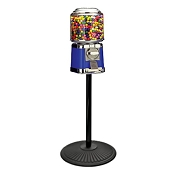 Beaver Round Barrel Head 16-inch Bulk Candy & Gumball Vending Machine w/Stand