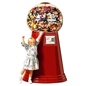 Jumbo Giant Globe Spiral Gumball Vending Machine w/Super Large Capacity Globe