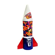 Red White & Blue Mighty Mite Rocket Gumball Vending Machine
