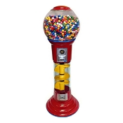 Spin & Drop Spiral 5-Foot Gumball Vending Machine w/Large Capacity Globe