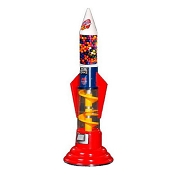 Red White & Blue Rocket Spiral 5-Foot Gumball Vending Machine