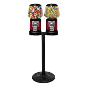 Ultra Classic Two Head Candy & Gumball Vending Machine w/Locking Cash Drawer & Husky Stand