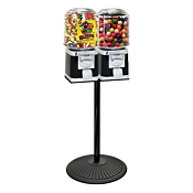 VendPro Classic Barrel Two Head  (ABS Body) 15-inch Candy & Gumball Machine w/Husky Stand
