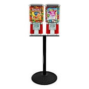 VendPro Classic Square Two Head  (Metal Body) 15-inch Candy & Gumball Machine w/Husky Stand