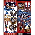 Proud & Free Tattoos (In Folders) 300 Count Box