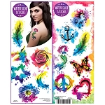 Watercolor Tattoos (In Folders) 300 Count Box