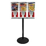 VendPro Classic Square Three Head Bulk 1-inch Toy Capsule Vending Machine w/Husky Stand