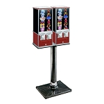 Northern Beaver Double 26 Flat-Pak Dual Sticker & Tattoo Vending Machine w/Beaver BS250 Stand