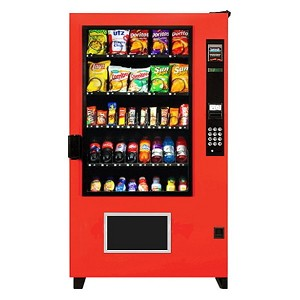 AMS High Security Outsider (20 Selection Snack - 16 Selection Drink) Snack Soda Combo Vending Machine