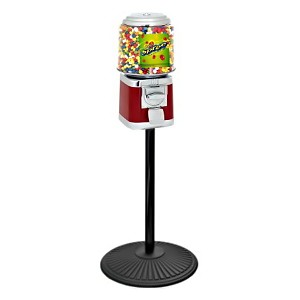 VendPro Classic Barrel Head  (Metal Body) 15-inch Candy Vending Machine w/Retro Stand