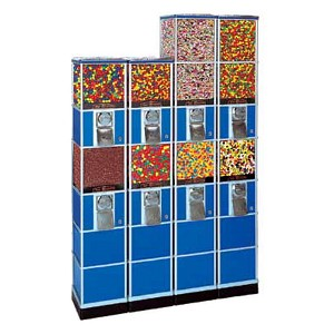 Beaver Double Decker Bulk Candy, Gumball & Toy Capsule Vending Tower w/Base