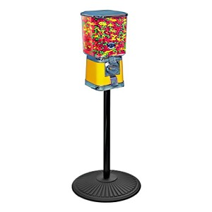 Beaver Square Head 16-inch Bulk Candy & Gumball Vending Machine w/Stand