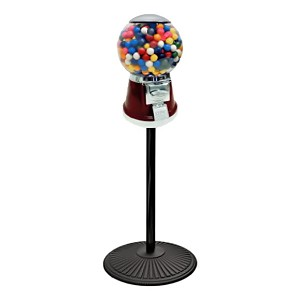The Universal Classic Big Bubble 16-inch Gumball Vending Machine w/Retro Stand