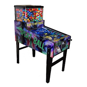Splat Ball Pinball Action Arcade Style Gumball Machine