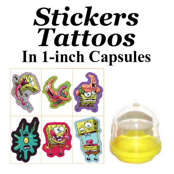 Stickers & Tattoos In 1