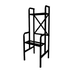 VendPro Heavy Duty Black Two Unit Railed Step Stand