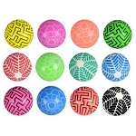 43mm (1.7-inch) Printed Pattern Hi-Bounce Balls 100 Count Box
