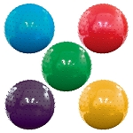 18-inch Inflatable Assorted Color Knobby Balls - 50 Balls per Box