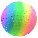 18-inch Inflatable Rainbow Knobby Vinyl Balls - 48 Balls per Box