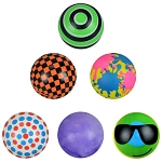 3-inch Series-2 Inflated Assorted Vinyl Balls - 144 Count Box