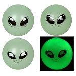 5-inch Inflatable Glow in the Dark Alien Balls 100 Count Box