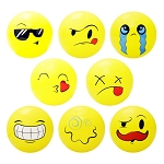 5-inch Inflatable Emoji Balls 250 Count Box