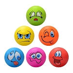 5-inch Inflatable Funny Face Balls - 250 Count Box