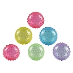 5-inch Inflatable Glitter Knobby Balls 250 Count Box