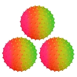 5-inch Inflatable Rainbow Knobby Balls 100 Count Box