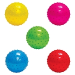 5-inch Inflatable Assorted Knobby Balls - 250 Count Box