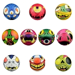 6-inch Inflatable Monster Face Vinyl Balls 250 Count Box