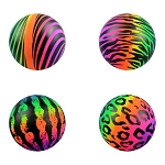 6-inch Inflatable Rainbow Printed Patterns Vinyl Balls 100 Count Box