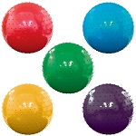 10-inch Inflatable Assorted Knobby Balls - 200 Balls per Box