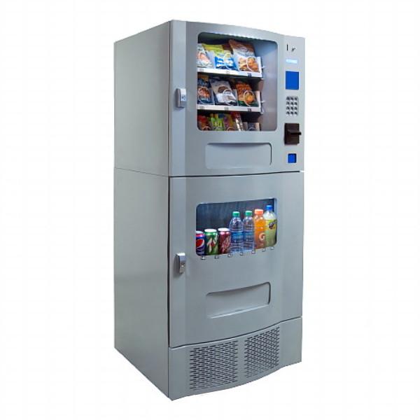 Snack Mart SM23 - Silver (16 Selection Snack - 7 Selection Drink) Snack  Soda Combo Vending Machine
