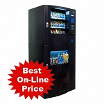 Seaga Snak Mart SM23 - Black  (16 Selection Snack - 7 Selection Drink) Snack Soda Combo Vending Machine