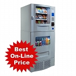 Seaga Snak Mart SM23 - Silver  (16 Selection Snack - 7 Selection Drink) Snack Soda Combo Vending Machine