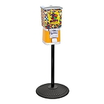 VendPro Premium Classic 15-inch Square Head (Metal Body) Candy Vending Machine w/Retro Stand