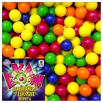KABOOM Mini Multi-Colored Jawbreakers w/Candy Center - 1430 Count Case