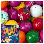SPLAT 1-inch Multi-Colored Jawbreakers w/Candy Center - 850 Count Case