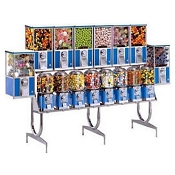 Beaver Super 88 - 16 Unit Bulk Candy, Gumball & Toy Capsule Combo Vending Machine Rack