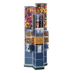 Beaver Double Decker Tri-Tower Deluxe II Candy, Gumball & Toy Capsule Vending Machine w/Base