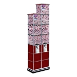 Beaver Twin Tower Bulk Candy, Gumball & Toy Capsule Vending Machine w/Base