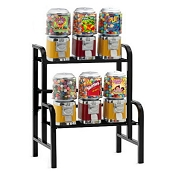 VendPro Classic Barrel Head 6 Unit Candy & Gumball Vending Machine Rack