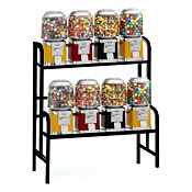 VendPro Classic Barrel Head 8 Unit Candy & Gumball Vending Machine Rack