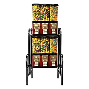 VendPro Triple Pod (Changeable Canisters) 2 Unit Bulk Candy & Gumball Vending Machine Rack